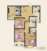 中纺佳苑・颐和铭郡3室2厅2卫129平方米户型图