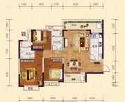 恒大御府3室2厅2卫122平方米户型图