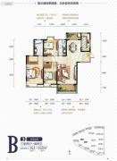 中国铁建国际城3室2厅2卫161平方米户型图