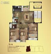 观山名筑3室2厅2卫118平方米户型图