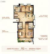 富闽时代广场4室2厅2卫115平方米户型图