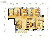 冠龙华府4室2厅2卫0平方米户型图