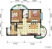 傲景观澜九龙湾2室2厅1卫0平方米户型图