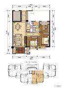 东晟泰和园2室2厅1卫0平方米户型图