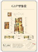 金厦银湖城2室2厅1卫89平方米户型图