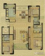 太湖锦园3室2厅2卫0平方米户型图