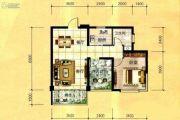 天立国际1室2厅1卫66平方米户型图