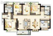 万科首铸东江之星4室2厅2卫0平方米户型图