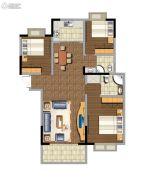 东方名苑3室2厅2卫119平方米户型图