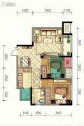 渝能嘉湾壹号2室2厅1卫70平方米户型图