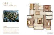 荣邦城3室2厅3卫142平方米户型图