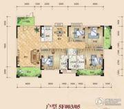 鸿泰花园4室2厅3卫170平方米户型图