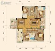 泰然南湖玫瑰湾4室2厅3卫182平方米户型图