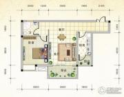 国际新城1室2厅1卫62平方米户型图