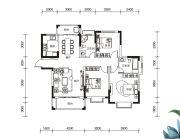 多伦公园里3室2厅2卫124平方米户型图