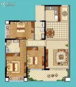 名巨山水城3室2厅2卫0平方米户型图