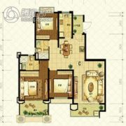 恒大山水城3室2厅2卫126平方米户型图