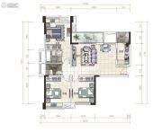 金湾国际・特色农产品交易中心3室2厅2卫116平方米户型图