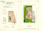 东方剑桥柔波里3室2厅2卫288平方米户型图