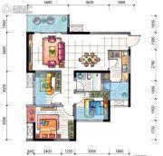 地铁首座3室2厅1卫84平方米户型图