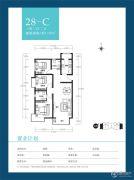 天朗美域3室2厅2卫118平方米户型图