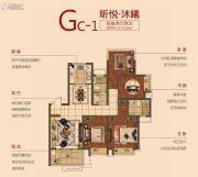 弘阳昕悦府4室2厅2卫114平方米户型图