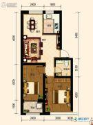 古御壹号2室2厅1卫67平方米户型图