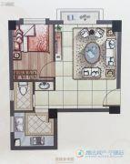 怡和嘉园二期1室2厅1卫39平方米户型图