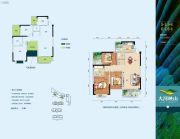 大河映山3室5厅5卫123平方米户型图