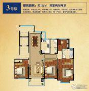 龙泊湾4室2厅2卫165平方米户型图