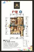 锦发君城2室2厅1卫76平方米户型图