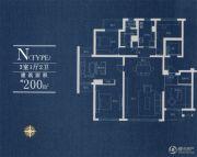 积水裕沁湖畔庭3室1厅2卫200平方米户型图
