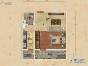 华贸公园郡1室1厅1卫48平方米户型图