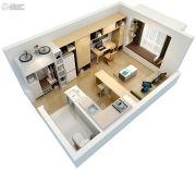新田城1室1厅1卫35平方米户型图