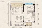 珠江青云台2室2厅1卫78平方米户型图