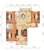 檀香湾2室2厅1卫101平方米户型图