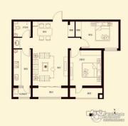 花香漫城2室2厅1卫101平方米户型图