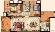 充耀盛荟2室2厅1卫88--89平方米户型图