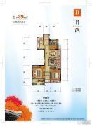 碧桂园西江月3室2厅2卫0平方米户型图