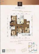 金辉优步花园4室2厅2卫110平方米户型图