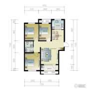 紫林湾3室2厅1卫115平方米户型图