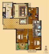 新龙御都国际3室2厅2卫140平方米户型图