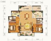 晟通牡丹舸3室2厅2卫142平方米户型图