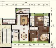 君华・禧悦台3室2厅2卫130平方米户型图
