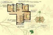 淳茂公园城3室2厅1卫108平方米户型图