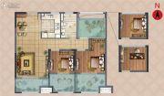弘阳上湖2室2厅2卫88平方米户型图