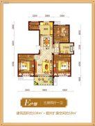 锦绣江南3室2厅1卫104平方米户型图