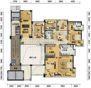 凤凰谷6室4厅7卫509平方米户型图