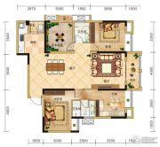 金安东诚4室2厅2卫138平方米户型图