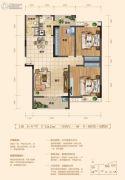 上品・百合园3室2厅1卫124平方米户型图